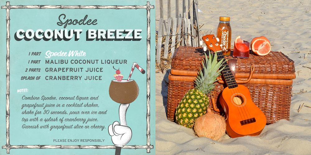 Spodee White Coconut Breeze