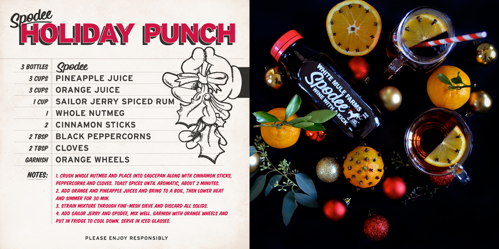 Spodee Red Holiday Punch